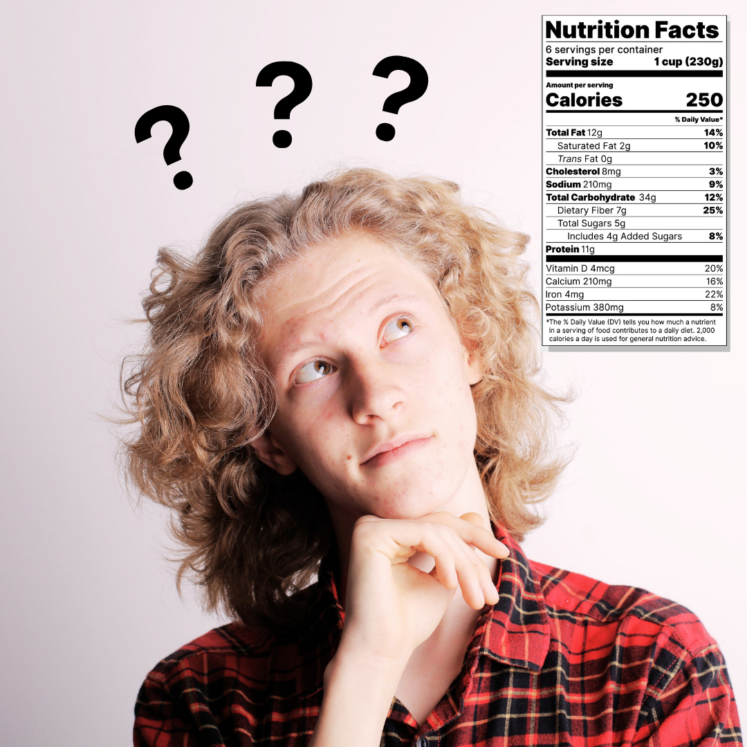You should create your nutrition facts label now!