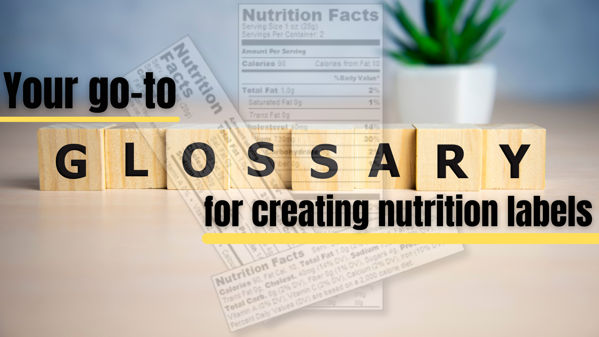create a nutrition label